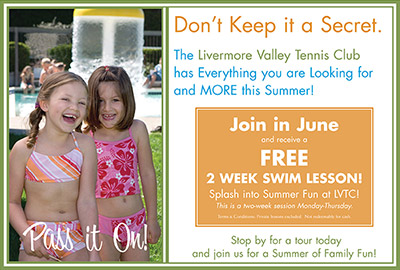 Direct mail for Livermore Valley Tennis Club